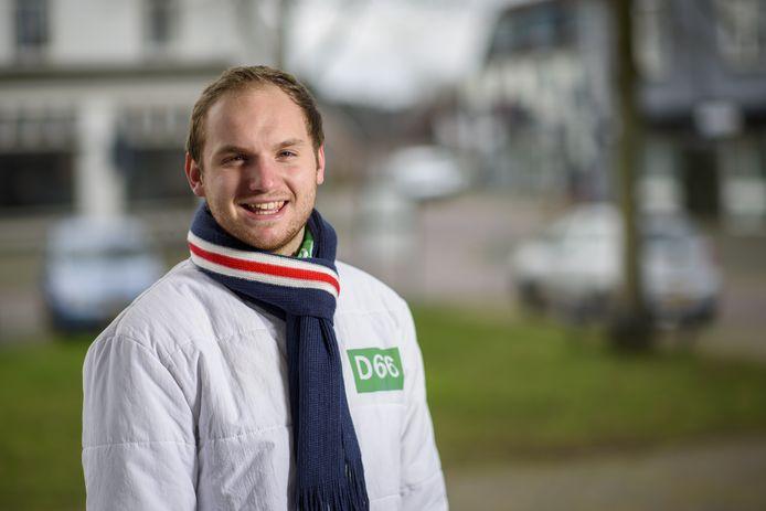 Merijn van As is sinds 2018 raadslid voor D66 in de gemeente Brummen.