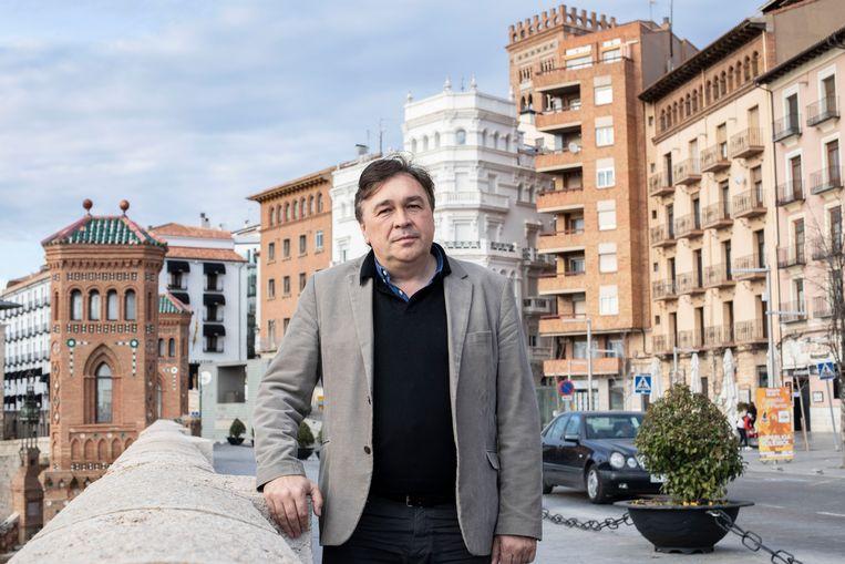 """Tomas Guitarte van burgerbeweging Teruel Existe (Teruel Bestaat): """"Ons volk sterft uit, doordat de staat geen actie onderneemt."""" Beeld RV"""