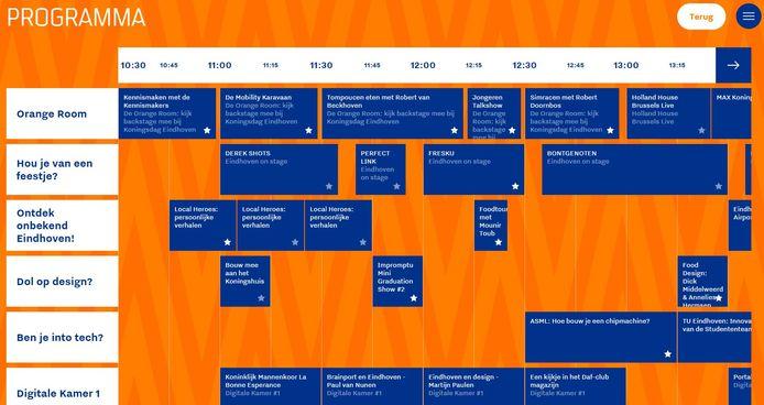 Een bomvol digitaal programma op Koningsdag 2021 in Eindhoven.