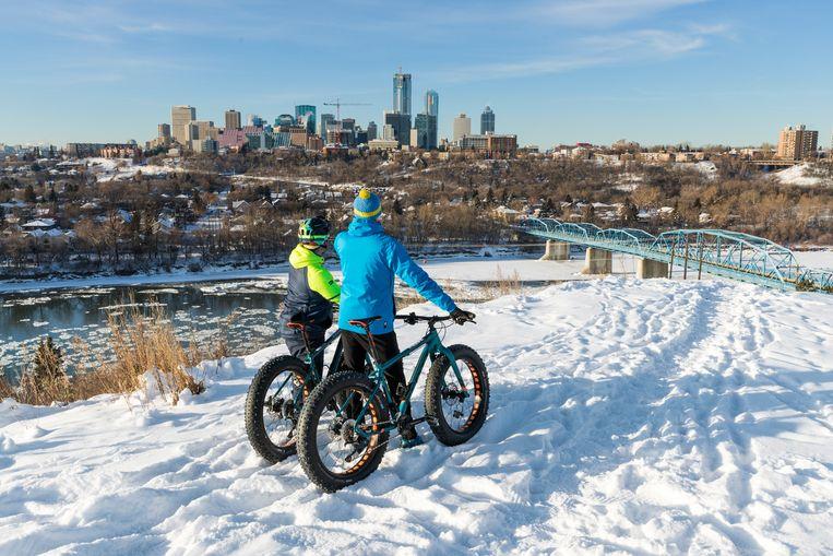 Fatbiken is een leuke manier om winters Edmonton te verkennen Beeld Jonathan Vandevoorde