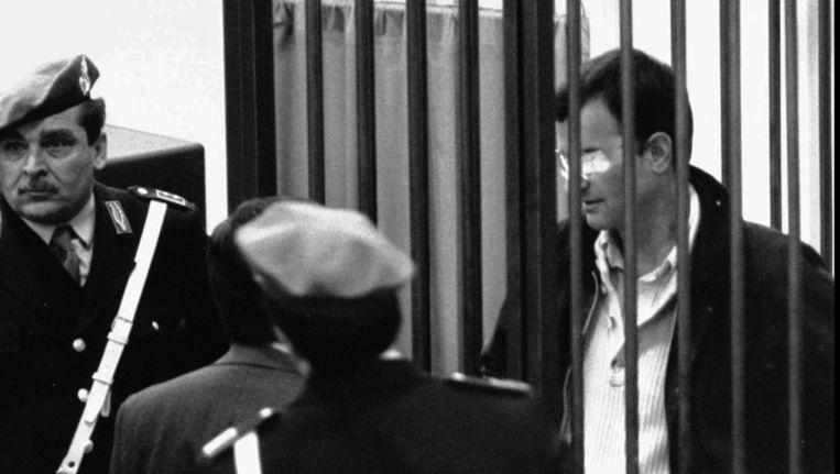 Een van de weinige foto's van Massimo Carminati, die zijn oog verloor tijdens een schietpartij in 1981. Beeld AP