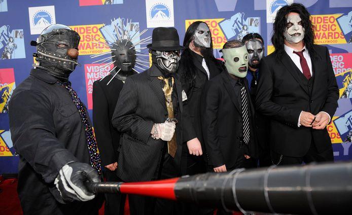De leden van de metalband Slipknot
