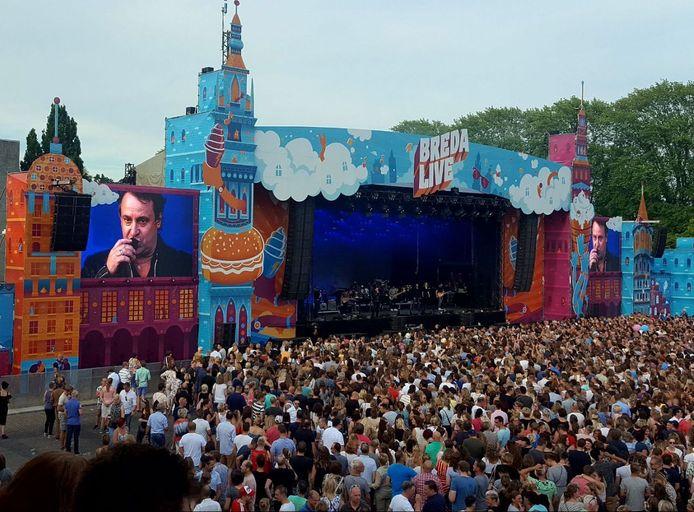 Marco Borsato op Breda Live 2017.  Foto: Nicole Dalleu