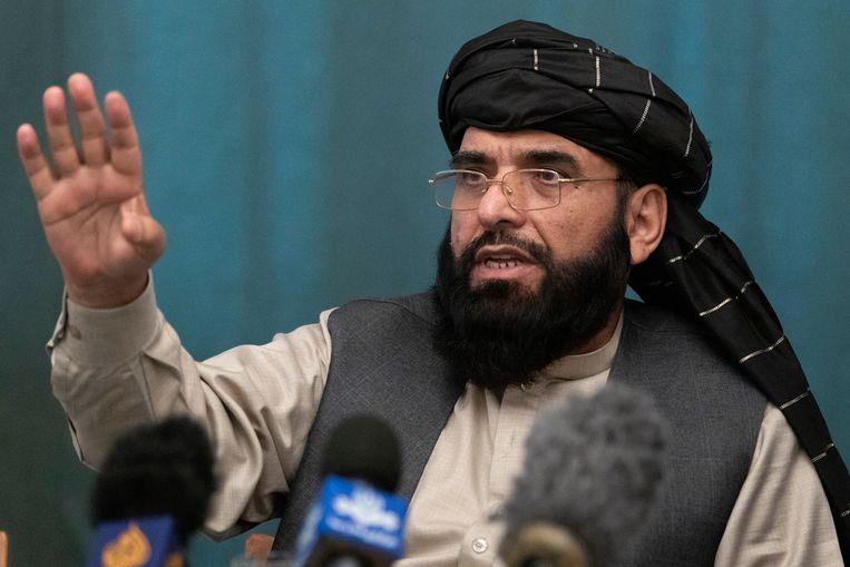 Suhail Shaheen, door de Taliban voorgedragen als nieuwe VN-ambassadeur.   Beeld AP
