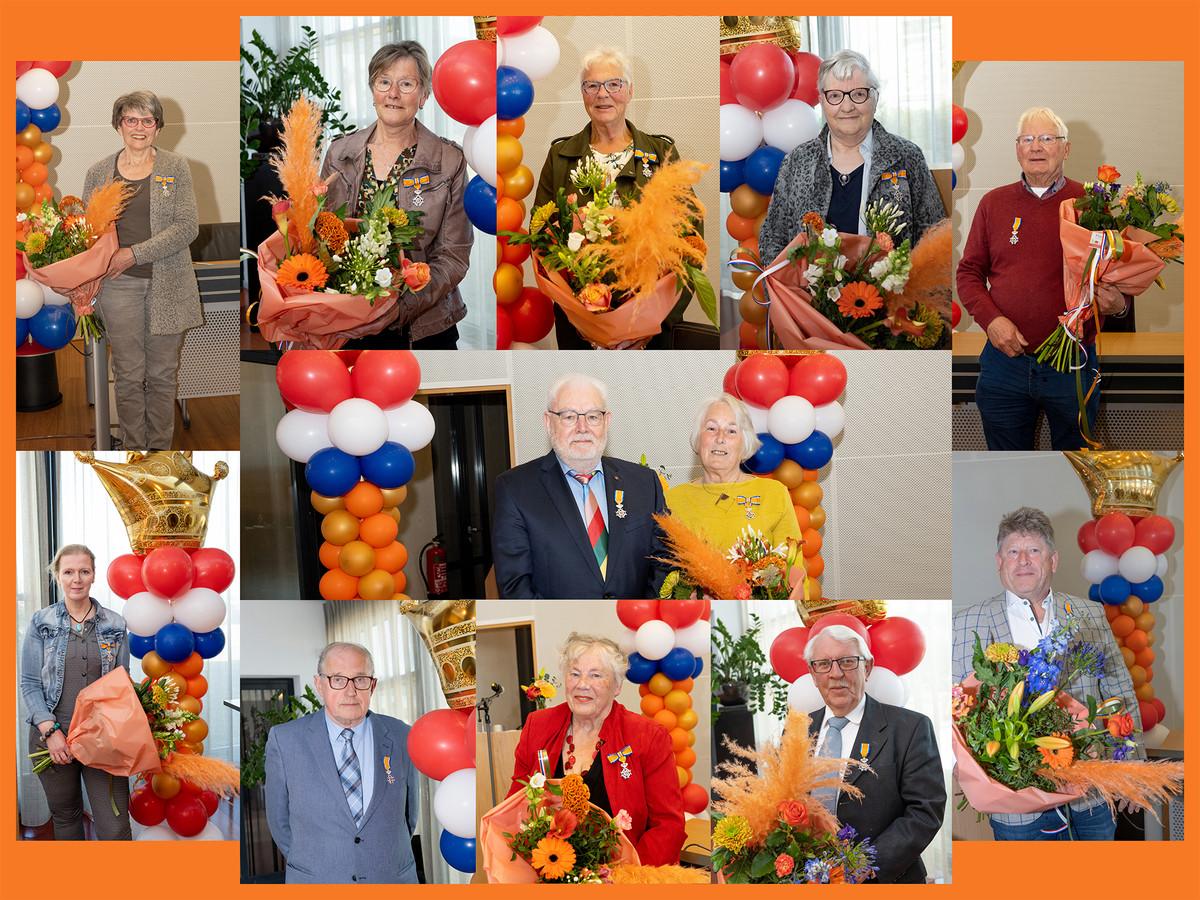 Liefst twaalf gedecoreerden in Hof van Twente.