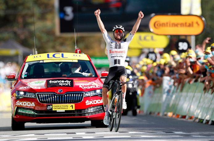 Marc Hirschi boekte afgelopen seizoen een ritzege in de Tour de France.