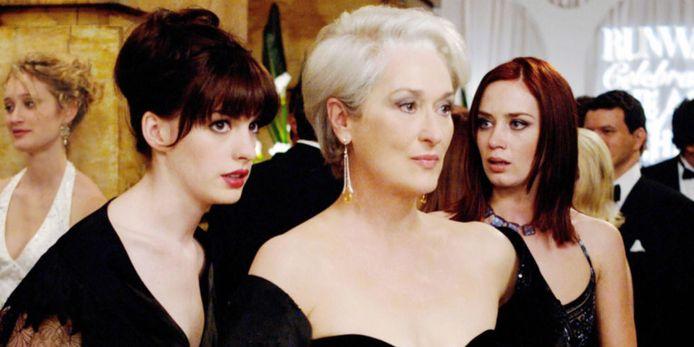 Anne Hathaway en Meryl Streep in The Devil Wears Prada.