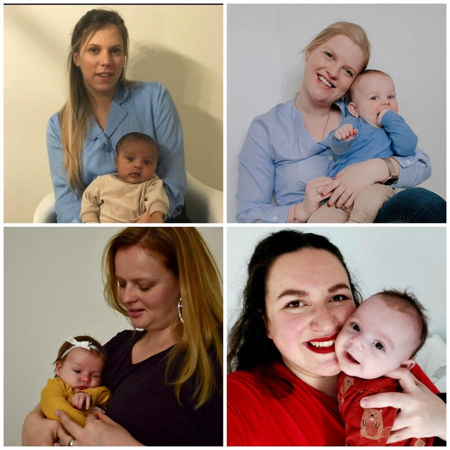 Naomi, Goedele en Tilde delen hun verhaal over mama worden tijdens corona. Ook onze journaliste Laurie deelt haar ervaring.