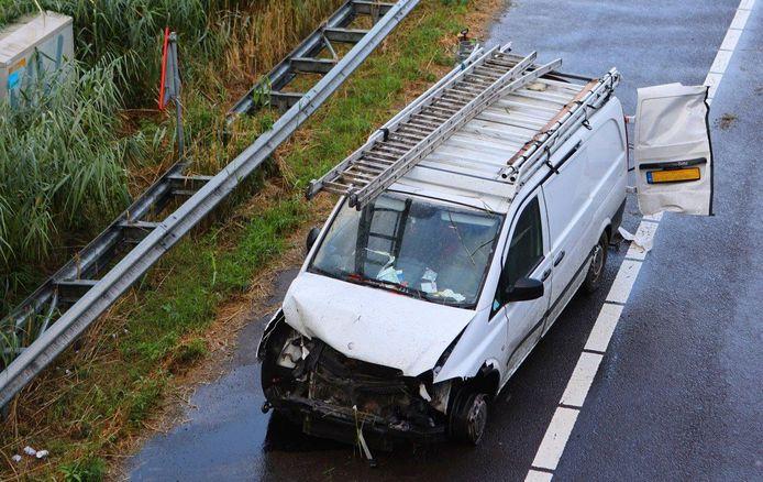 Ongeval op A59 bij Den Bosch.