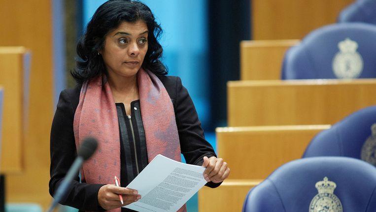 Tanja Jadnanansing in de Tweede Kamer Beeld ANP