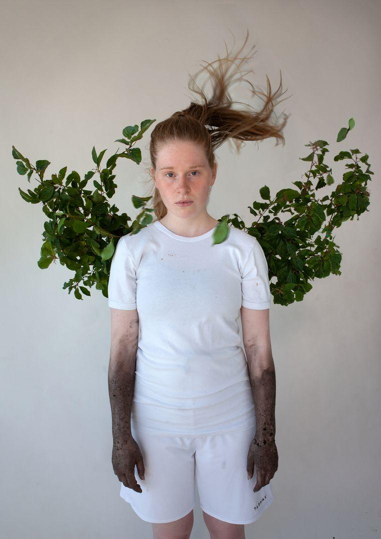 Lotte Pierik in 'Het groene meisje' van MaxTak.  Beeld Esther de Boer