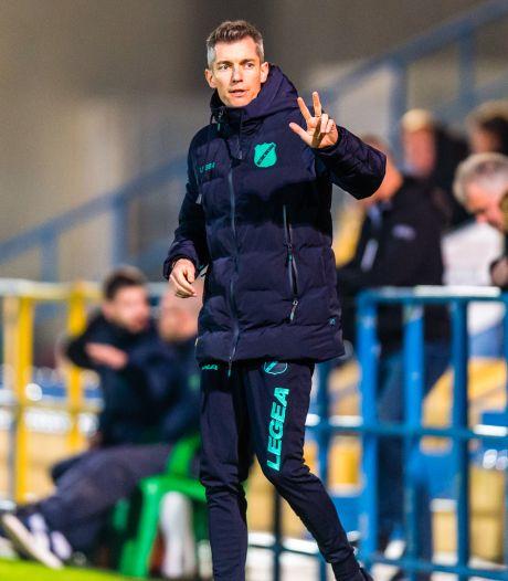 NAC-trainer Weijs geniet volop: 'En met mij, als ik om mij heen kijk, de rest van de staf en alle spelers'