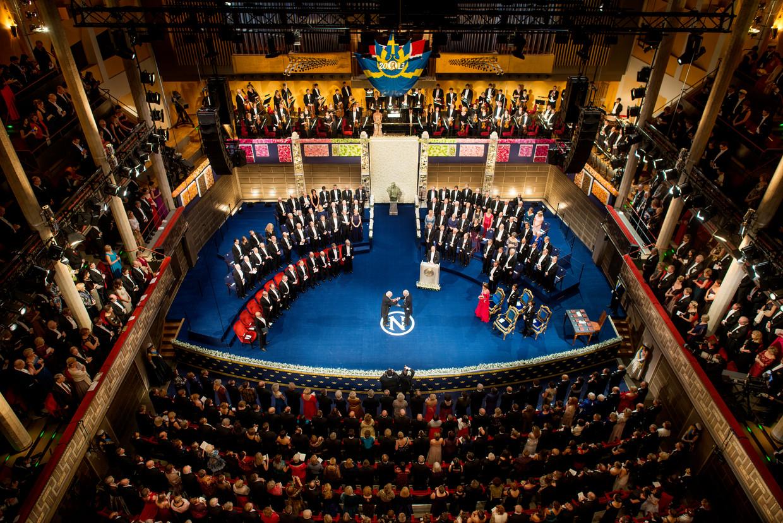 De uitreiking gebeurt telkens in de Stockholm Concert Hall.