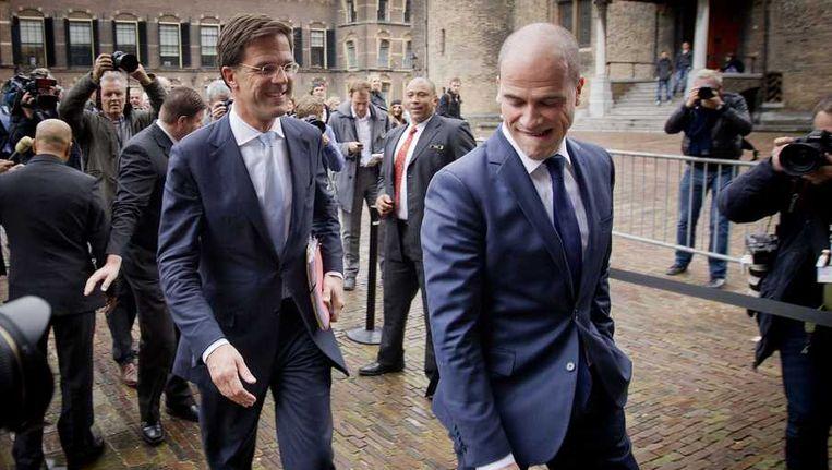 Mark Rutte en Diederik Samsom Beeld anp