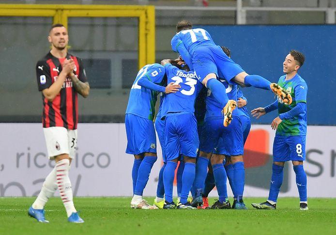 Sassuolo sloeg toe met twee doelpunten in het slotkwartier.