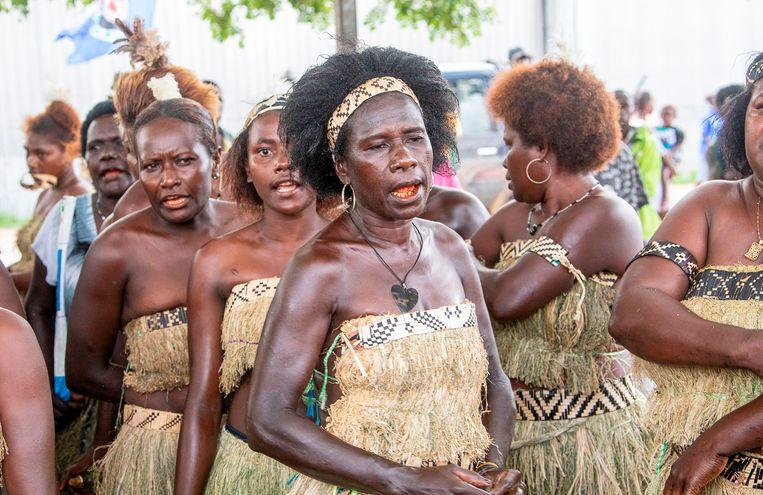 Het referendum duurde twee weken zodat ook inwoners van afgelegen delen van de eilandengroep hun stem konden uitbrengen. Beeld AFP