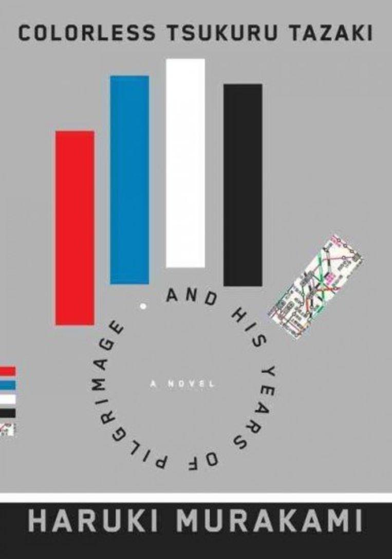 Omslag van de Engelse variant van Haruki Murakami's boek 'De kleurloze Tsukuru Tazaki'. Beeld