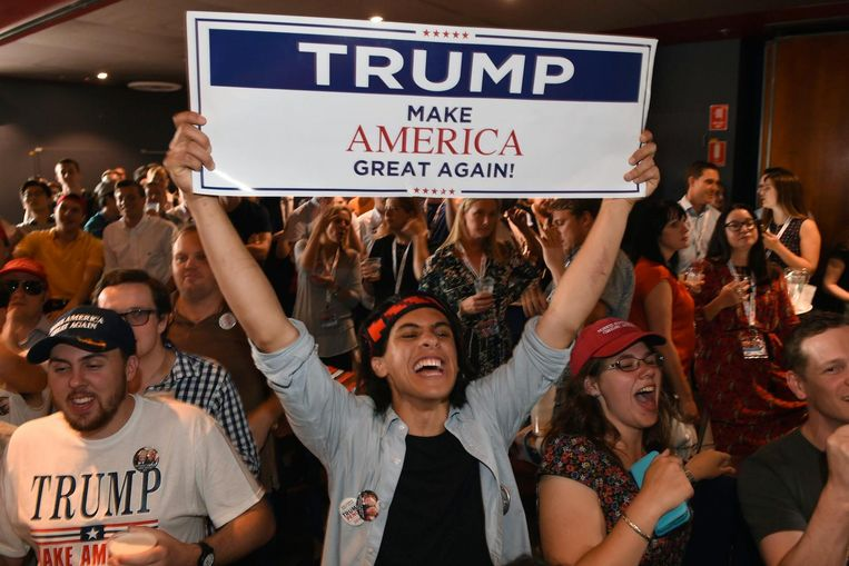 Lyrische Trump-fans. Beeld anp
