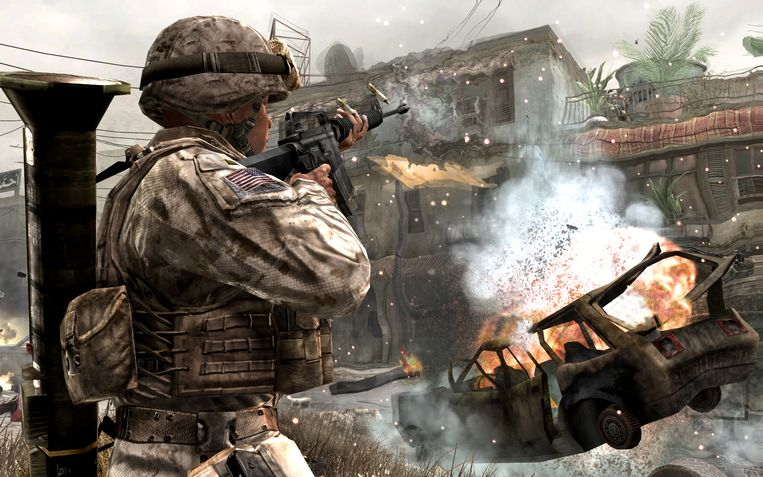 Games als 'Call of Duty' zien er strak uit, maar zijn ook fantasieloos. Beeld rv