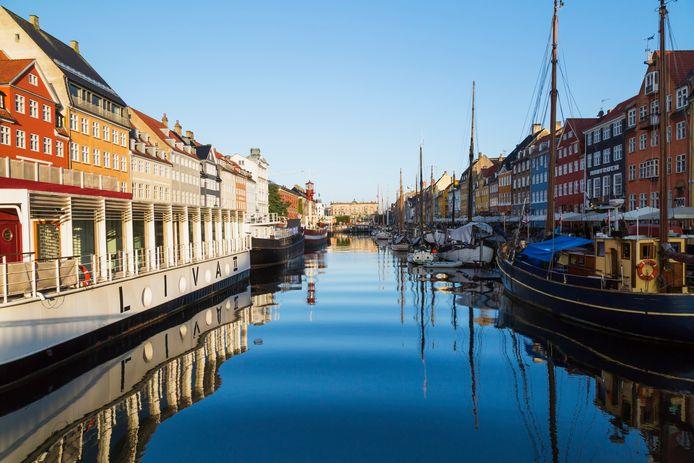 Nyhavn canal, Kopenhagen, Denemarken