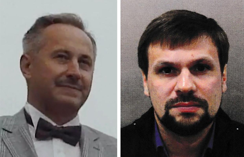 Andrei V. Averyanov (links) is de bevelherbber van 29155. Anatoly V. Chepiga wordt in het VK verdacht van de moordpoging op Skripal.   Beeld RV