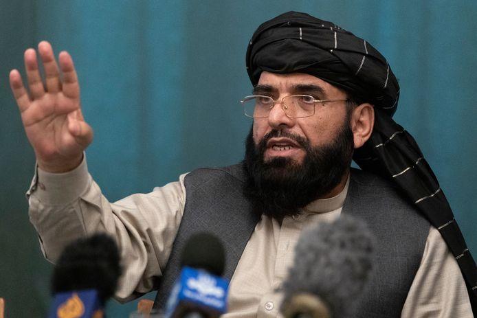 Archiefbeeld. Suhail Shaheen, woordvoerder van de taliban, contacteerde  de Australische BBC-reporter Yalda Hakim vanuit Qatar.