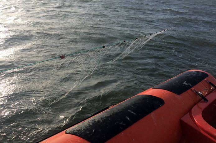 De illegale netten werden door de NVWA in beslag genomen.