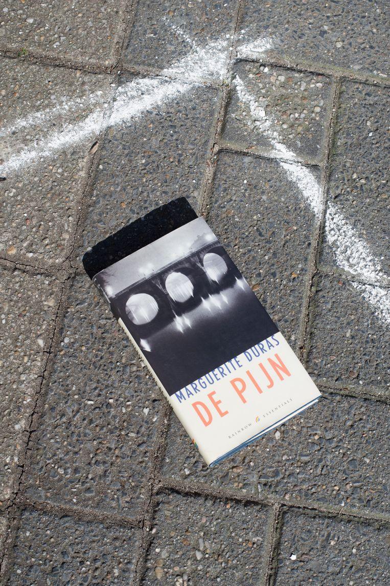 Aan de straatstenen niet kwijt: De pijn van Marguerite Duras (vraagprijs: 50 cent). Beeld Annabel Miedema