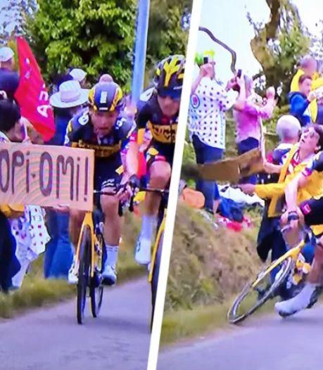 """Le Tour de France retire sa plainte contre la spectatrice à la pancarte: """"Cela a pris des proportions folles"""""""