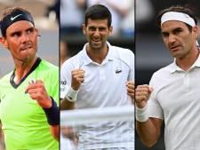 Djokovic, Nadal en Federer hebben een hele generatie tennissers uitgegumd
