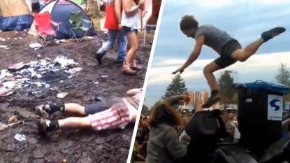 Het kan al eens foutlopen: de beste festivalfails op een rij