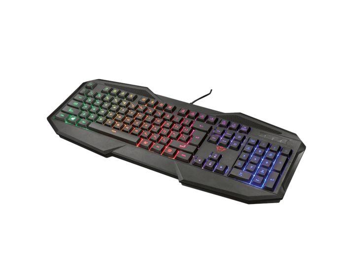 Het Trust GXT 830-gamingtoetsenbord is een voorbeeld van een membraanklavier.