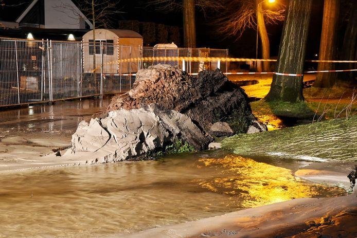 De omgevallen boom in Oisterwijk.