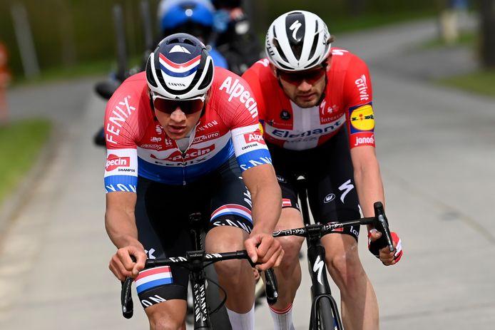 Mathieu van der Poel en Kasper Asgreen.