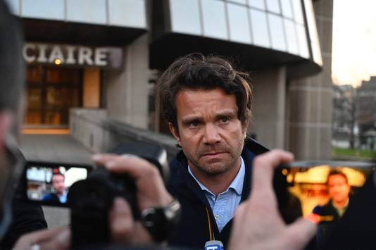The accused Jerome G.  Attorney Jean-Quilm Le Mindier spoke briefly to reporters yesterday.