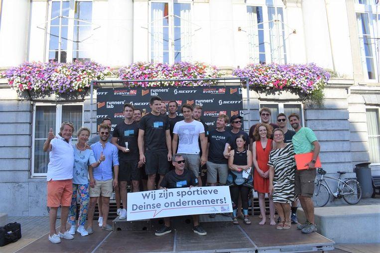 De winnaars van de eerste Deinze Industrie Teamtrophy.