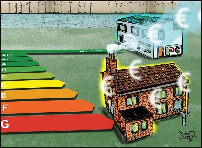 Het ene huis stookt na 2030 nog op gas terwijl de buurman in zijn woning stookt en kookt op elektriciteit.