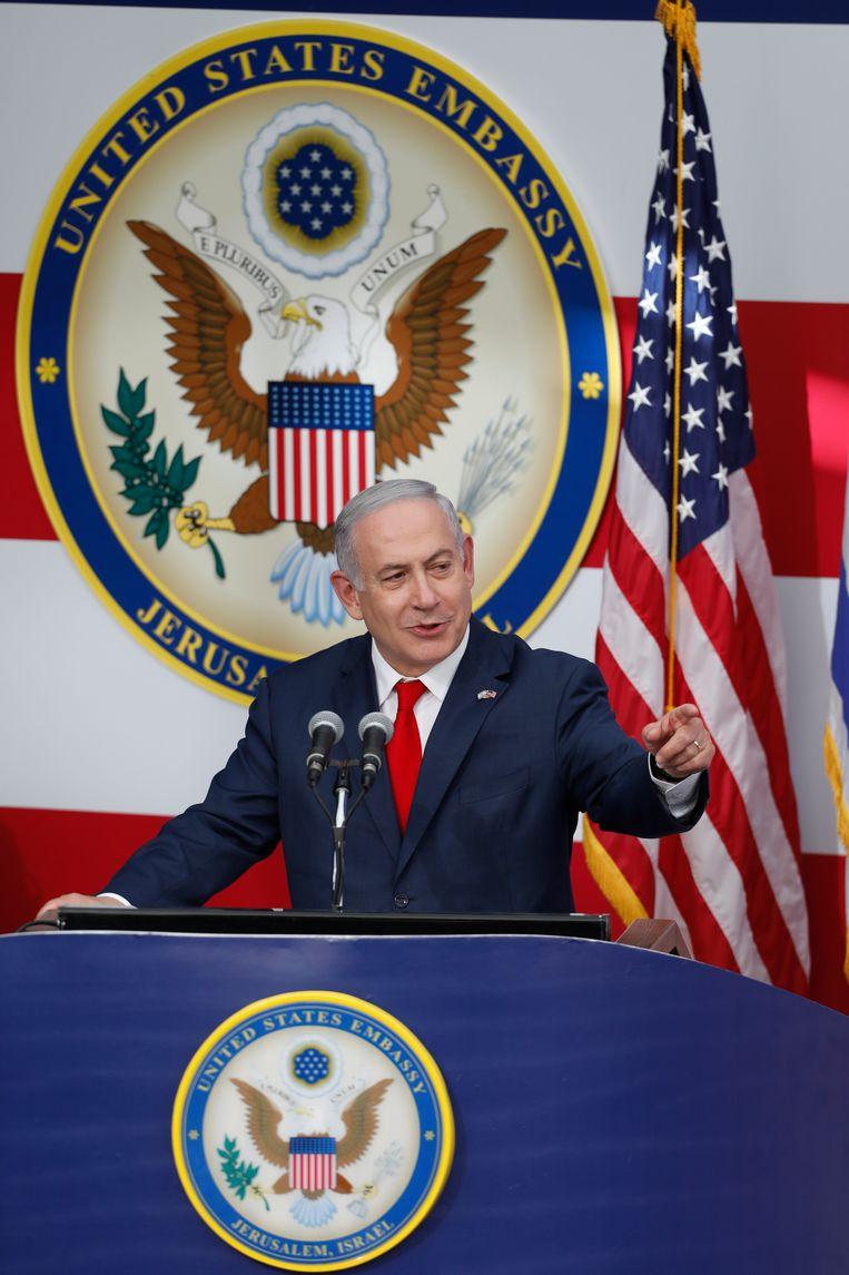 Benjamin Netanyahu, premier van Israël. Beeld EPA