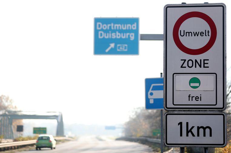 Duitse Umwelt- of milieuzones. Beeld EPA
