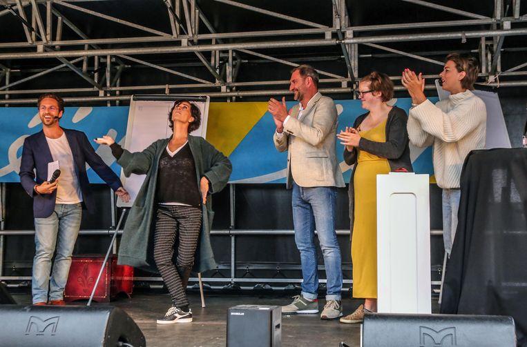 Christophe Haddad, Monika Van Lierde, Peter Van De Velde en Leen Dendievel.