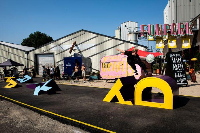 Na afloop was er een demonstratie skaten door het talententeam bij het toekomstige World Skate Center in Den Bosch.