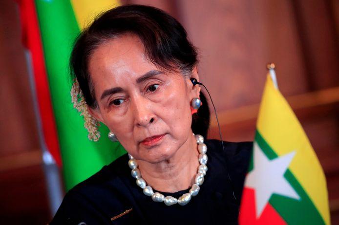 Aung San Suu Kyi op archiefbeeld uit 2018.