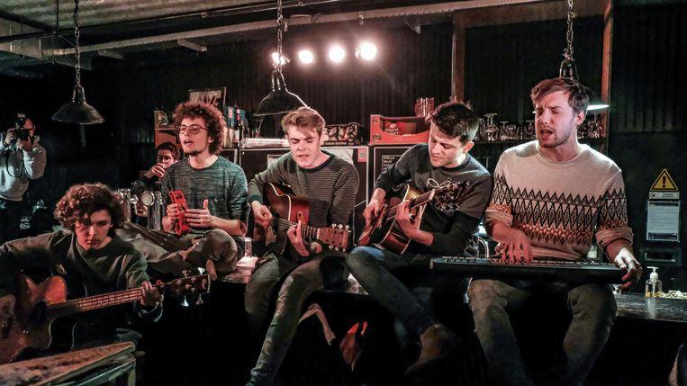Mooneye op een optreden in jeugdhuis Krak in Avelgem vorige vrijdag.