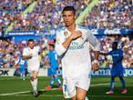 Ronaldo huilt, Ronaldo lacht tegen Getafe