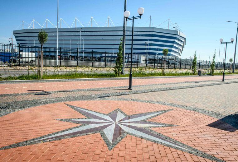 Het Kaliningrad Stadium in Kaliningrad, waar de Rode Duivels op 28 juni tegen Engeland zullen spelen.