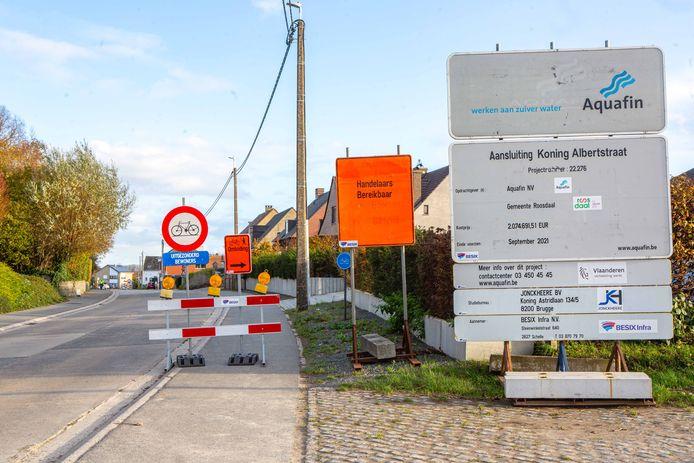 Alleen plaatselijk verkeer is de komende maanden nog toegelaten in de Koning Albertstraat.