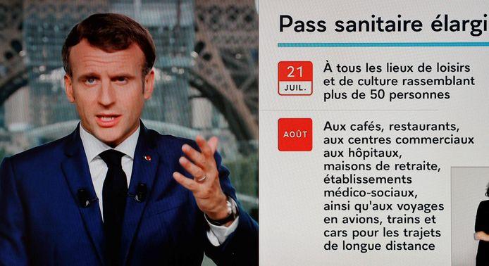 Allocution du président Macron, lundi, à la télévision