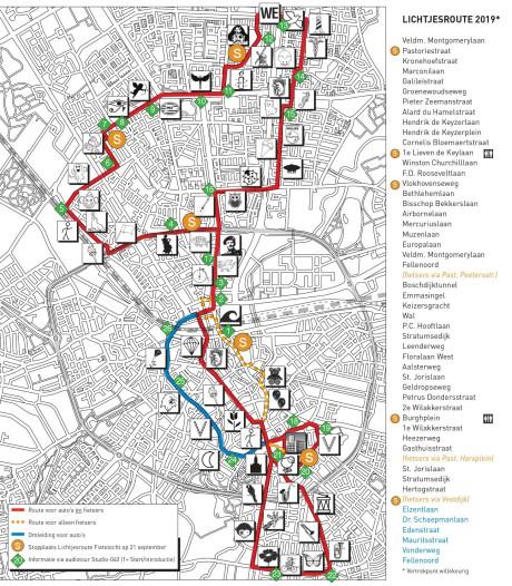 Lichtjesroute Eindhoven nu helemaal niet meer door Strijp
