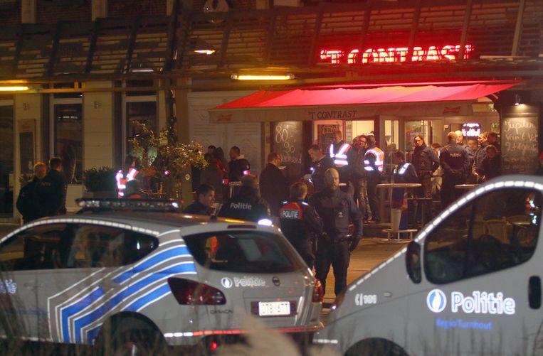 Illustratiebeeld: een controleactie van de politie in het Turnhoutse uitgaansleven