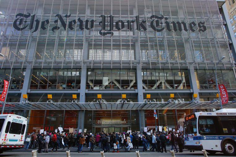 De redactie van 'The New York Times'.  Beeld AFP